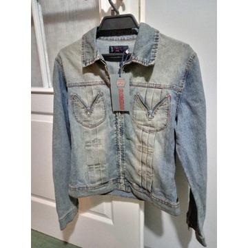 Nowa kurtka jeansowa damka vintage