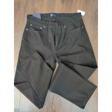 GAP czarne proste spodnie 32/32