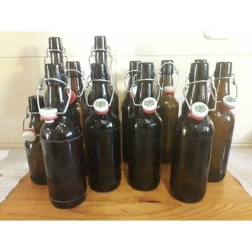 Zestaw 12 butelek na piwo z kapslem (kabłąk)