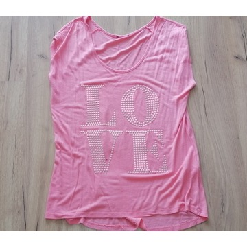 bluzka damska różowa noszona używana fetysz