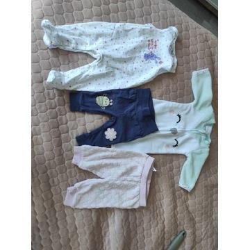 Spodnie niemowlęce dla dziewczynki rozm 56