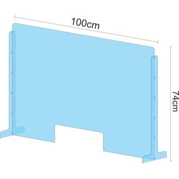 Osłona z plexi BHP ochronna poliwęglan 100x74cm