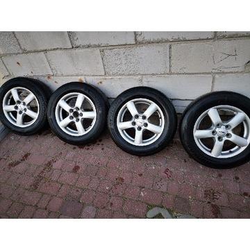 Felgi z oponami aluminiowe 15, 5x 112 et45 VW .