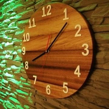 Ścienny Zegar drewniany - loft