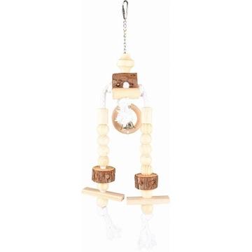 Zabawka wisząca,  drewnia na 40cm dla papug