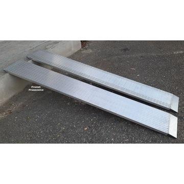Najazdy frezowane 2,35m Aluminiowe do 2,6T LAWETA