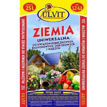 Ziemia uniwersalna do kwiatów i warzyw 65l ULVIT