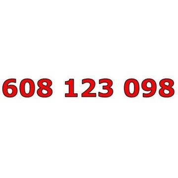 608 123 098 T-MOBILE ŁATWY ZŁOTY NUMER STARTER