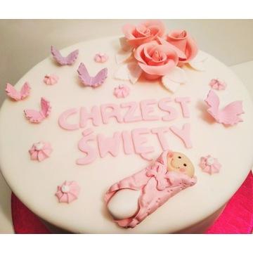 Dekoracje na tort cukrowe zestaw