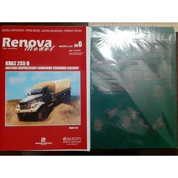 Kraz-255b Renova-Model i  części wycięte laserem