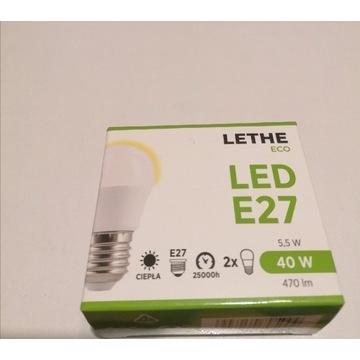 Żarówki LED E27 LETHE ECO 5,5w/40w 470lm