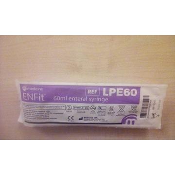 Strzykawka ENFit LPE60 - 60 ml eteral syringe.