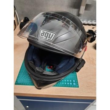 Kask motocyklowy AGV model K-5 + interkom Sena 10S