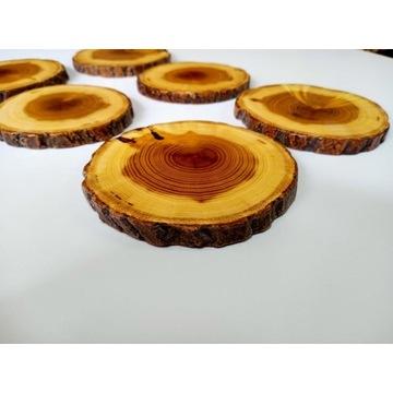 Podkładki drewniane pod kubek z żywicy  6 sztuk.