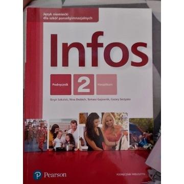 Język niemiecki Infos 2 ,podręcznik i ćwiczenia