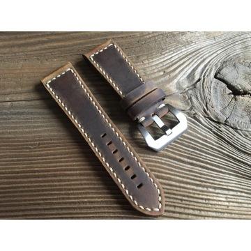 Pasek do zegarka ręcznie robiony skóra 26 mm