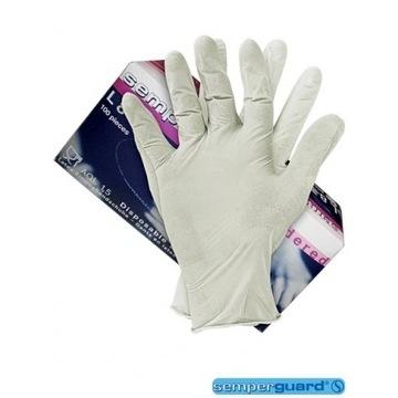 Jednorazowe mocne rękawiczki  lateksowe  100x L