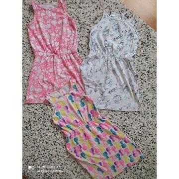 Sukienki letnie zestaw Cool club r. 134 jak nowe