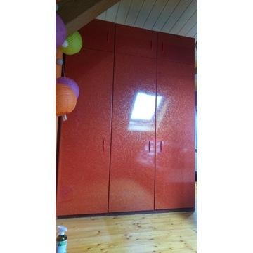 Używana szafa garderobiana, 3-drzwiowa z nadstawką
