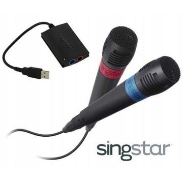 2x mikrofon. Sinistra SONY Playstation