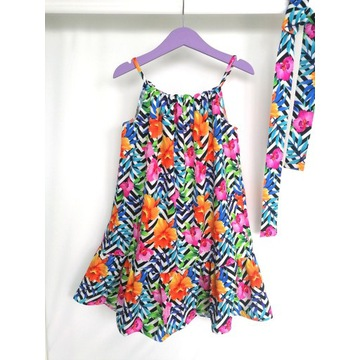 Sukienka lato plażówka 104-158 polski producent