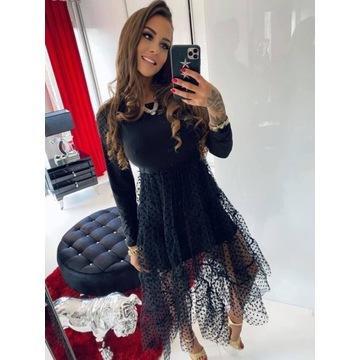Sukienka tiulowa czarna Lola Bianka