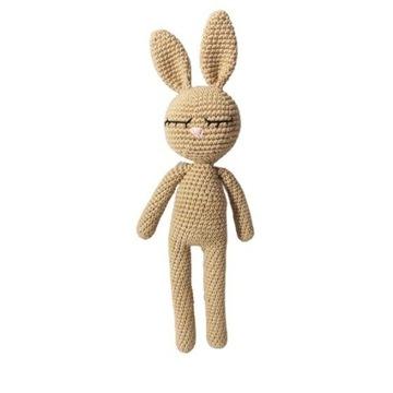 Szydełkowy królik przytulanka 35 cm ~gotowy