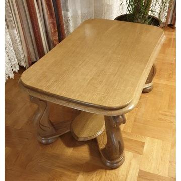 Ława / stolik z litego drewna 116 cm x72 cm