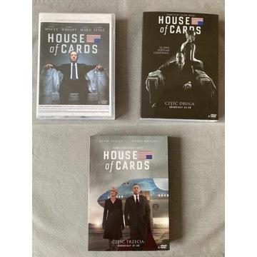 House of Cards DVD Sezony: 1, 2, 3 - stan idealny