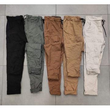 NOWOŚĆ Włoskie , bardzo modne  spodnie  z gumką