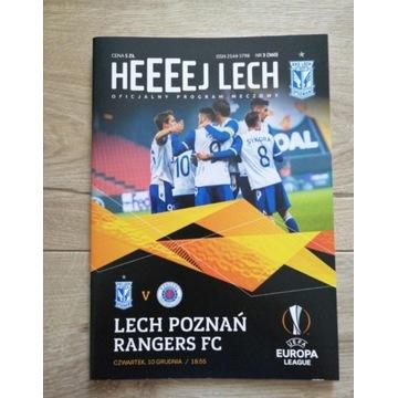 Program Lech Poznań - Rangers FC 2020