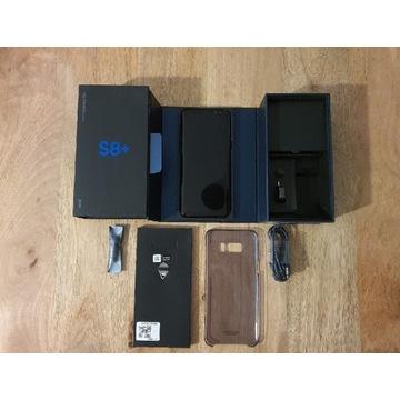 Samsung S8 Plus + oryginalne akcesoria bdb stan