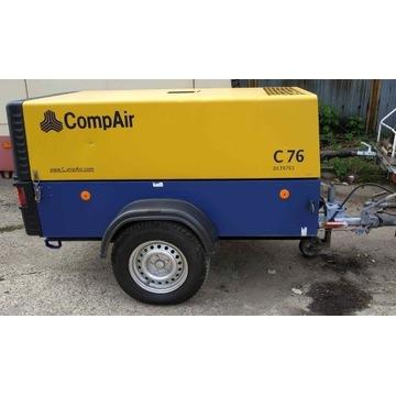 Kompresor przewoźny Comp Air C76  Rejestracja