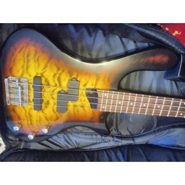 Gitara basowa Washburn T14 + pasek + pokrowiec