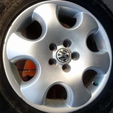 """Koła alu VW 16"""" 5x100 z oponami zimowymi 205/55/16"""