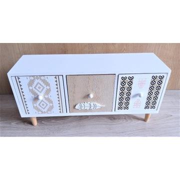 Drewniana skrzyneczka szufladka pojemniczek skrytk