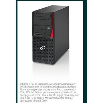 Komputer FUJITSU P757,i3-6 gen., 8gb ddr4, 2 dyski