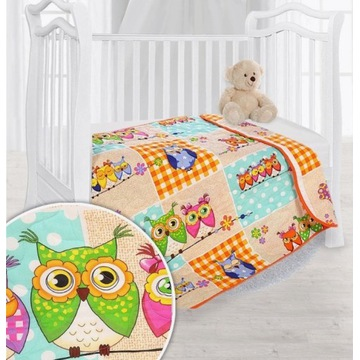 Narzuta dziecięca na łóżko Sówki 140x110 cm