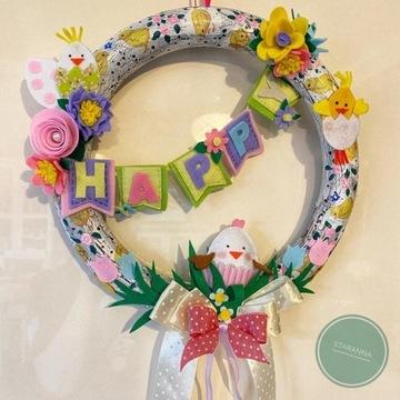 """Wianek wielkanocny """"Happy Easter"""""""