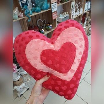 Poducha, poduszka serce, minky dwa kolory