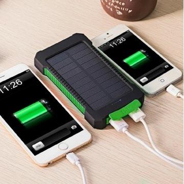 SOLIDNY PowerBank solarny z WIESZAKIEM LED 8000mah