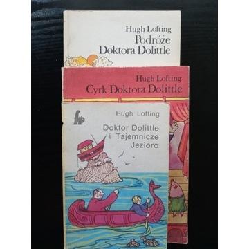 Doktor Dolittle - trzy książki z serii. H.Lofting