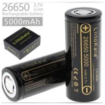Nowe Akumulatory 26650 Liitokala 50A 5000mAh