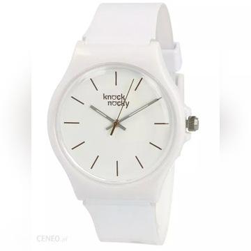 Zegarek naręczny KNOCK NOCKY biały NOWY