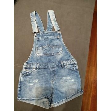 Spodnie ogrodniczki jeansowe Pull&Bear rozm. s