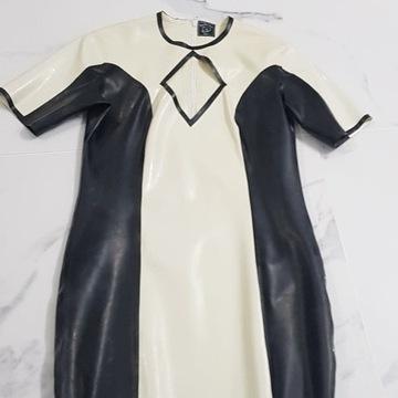 sukienka mini 100% latex guma producent M