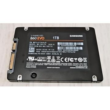 """Dysk 2,5"""" SSD Samsung EVO 860 1TB - JAK NOWY!"""