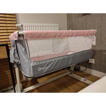 Lionelo Theo łóżeczko dostawka kolor różowy