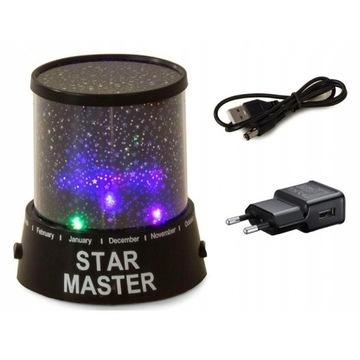 Nowe Lampka nocna projektor Star Master+ kabel USB