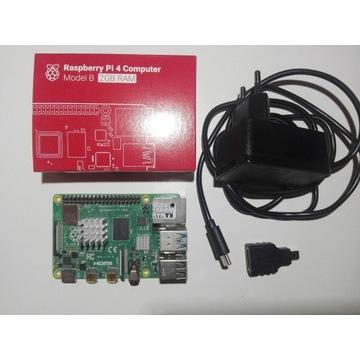 Raspberry Pi 4 2GB + Zasilacz + Adapter HDMI